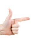 το χέρι που δείχνει θέτει Στοκ εικόνες με δικαίωμα ελεύθερης χρήσης
