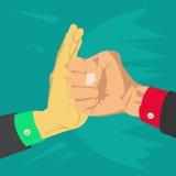 Το χέρι που είναι το χτύπημα ελεύθερη απεικόνιση δικαιώματος