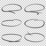 Το χέρι που σύρεται περιβάλλει το σύνολο εικονιδίων Συλλογή των συμβόλων σκίτσων μολυβιών Στοκ εικόνα με δικαίωμα ελεύθερης χρήσης
