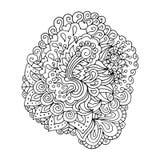 Το χέρι που σύρεται doodle περιγράφει το μαγικό στοιχείο τέχνης γραμμών Στοκ Φωτογραφίες