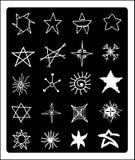Το χέρι σύρει τα αστέρια Στοκ Εικόνες