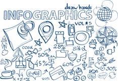 Το χέρι σύρει την ένταση infographics 5 Στοκ εικόνες με δικαίωμα ελεύθερης χρήσης