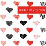 Το χέρι σύρει το σχέδιο καρδιών Στοκ εικόνα με δικαίωμα ελεύθερης χρήσης