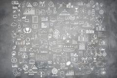 Το χέρι σύρει doodle τα χρήματα στοιχείων και το εικονίδιο νομισμάτων, Στοκ Εικόνα