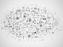 Το χέρι σύρει doodle τα χρήματα στοιχείων και το εικονίδιο νομισμάτων, Στοκ φωτογραφίες με δικαίωμα ελεύθερης χρήσης