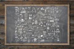 Το χέρι σύρει doodle τα χρήματα στοιχείων και το εικονίδιο νομισμάτων, Στοκ φωτογραφία με δικαίωμα ελεύθερης χρήσης