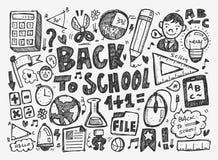 Το χέρι σύρει doodle το σχολικό στοιχείο Στοκ Εικόνα