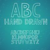 Το χέρι σύρει doodle abc τις διανυσματικές επιστολές αλφάβητου Στοκ φωτογραφίες με δικαίωμα ελεύθερης χρήσης