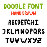 Το χέρι σύρει doodle abc, τύπος γρατσουνιών αλφάβητου grunge Στοκ φωτογραφία με δικαίωμα ελεύθερης χρήσης