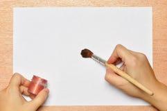 Το χέρι του καλλιτέχνη. Στοκ Εικόνες
