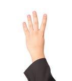 το χέρι χειρονομίας εμφαν Στοκ Φωτογραφίες