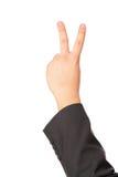 το χέρι χειρονομίας εμφαν Στοκ εικόνα με δικαίωμα ελεύθερης χρήσης