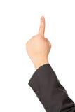 το χέρι χειρονομίας εμφαν Στοκ Εικόνες
