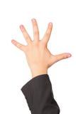 το χέρι χειρονομίας εμφαν Στοκ φωτογραφία με δικαίωμα ελεύθερης χρήσης