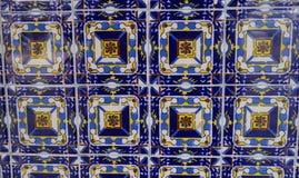 Το χέρι χρωμάτισε την κεραμική σύσταση κεραμιδιών τοίχων Στοκ Φωτογραφίες