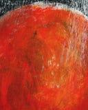 Το χέρι χρωμάτισε το ακρυλικό υπόβαθρο τεχνών Στοκ Φωτογραφίες