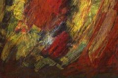 Το χέρι χρωμάτισε το ακρυλικό υπόβαθρο τεχνών Στοκ Εικόνα