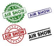 Το χαλασμένο κατασκευασμένο AIR ΠΑΡΟΥΣΙΆΖΕΙ γραμματόσημα σφραγίδων διανυσματική απεικόνιση