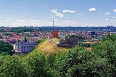 Το χαμηλότεροι Castle και πύργος σε Vilnius Λιθουανία Στοκ Εικόνα