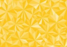 Το χαμηλό πολυ διανυσματικό, κίτρινο χαμηλό πολυ σχέδιο ύφους, χαμηλή πολυ απεικόνιση ύφους, αφαιρεί το χαμηλό πολυ διάνυσμα υποβ Στοκ Φωτογραφία