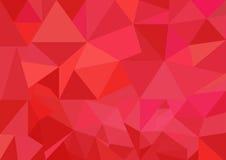 Το χαμηλό πολυ διανυσματικό, κόκκινο χαμηλό πολυ σχέδιο ύφους, χαμηλή πολυ απεικόνιση ύφους, αφαιρεί το χαμηλό πολυ διάνυσμα υποβ Στοκ Εικόνες