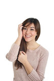 Το χαμόγελο ανάμιξε το ασιατικό κορίτσι Στοκ φωτογραφία με δικαίωμα ελεύθερης χρήσης