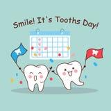 Το χαμόγελο αυτό είναι ημέρα δοντιών απεικόνιση αποθεμάτων
