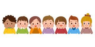 Το χαμόγελο παιδιών ξαπλώνει Στοκ Εικόνες