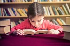Το χαριτωμένο σχολικό κορίτσι αγαπά να διαβάσει τα βιβλία στοκ εικόνες με δικαίωμα ελεύθερης χρήσης