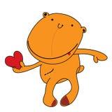 Το χαριτωμένο χαμόγελο teddy αντέχει, αστεία εικόνα κινούμενων σχεδίων Έγχρωμη εικονογράφηση στο άσπρο υπόβαθρο Στοκ φωτογραφίες με δικαίωμα ελεύθερης χρήσης