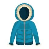 Το χειμερινό σακάκι ντύνει το απομονωμένο εικονίδιο διανυσματική απεικόνιση