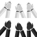 το χειροκρότημα δίνει το &si μήλων Απομονωμένο χτύπημα χεριών ελεύθερη απεικόνιση δικαιώματος