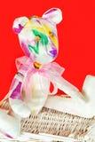 Το χειροποίητο υφαντικό tilda Teddy της Προβηγκίας μεταξιού αντέχει το παιχνίδι Στοκ φωτογραφία με δικαίωμα ελεύθερης χρήσης