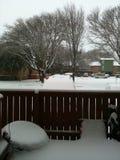 Το χιονώδες Fort Worth Στοκ εικόνες με δικαίωμα ελεύθερης χρήσης
