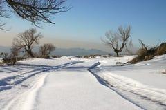 το χιόνι ακολουθεί το ε& Στοκ Εικόνες