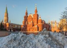 Το χιόνι στη Μόσχα Στοκ εικόνα με δικαίωμα ελεύθερης χρήσης