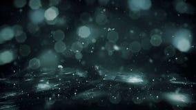 Το χιόνι φω'των υποβάθρου χειμερινών κινήσεων noir που αφορά τον πάγο bokeh ο βρόχος 4k διανυσματική απεικόνιση