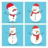 Το χιόνι Χριστουγέννων επανδρώνει τα σύνολα εικονιδίων απεικόνιση αποθεμάτων