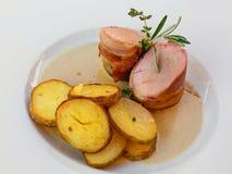 το χοιρινό κρέας πιάτων έψησ&ep Στοκ εικόνα με δικαίωμα ελεύθερης χρήσης