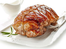 το χοιρινό κρέας πιάτων έψησ&ep Στοκ Εικόνες