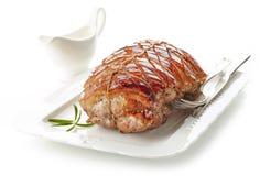 το χοιρινό κρέας πιάτων έψησ&ep Στοκ εικόνες με δικαίωμα ελεύθερης χρήσης
