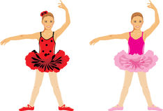 το χορεύοντας κορίτσι απομόνωσε το λευκό Μπαλέτο παιδιών Στοκ Εικόνα