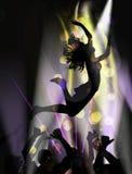 το χορεύοντας κορίτσι απομόνωσε το λευκό Στοκ Φωτογραφίες