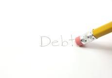 το χρέος σβήνει το σας Στοκ Εικόνα