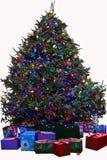 Το χριστουγεννιάτικο δέντρο με παρουσιάζει - απομονωμένος Στοκ εικόνα με δικαίωμα ελεύθερης χρήσης