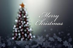 Το χριστουγεννιάτικο δέντρο με τα φω'τα. Στοκ εικόνα με δικαίωμα ελεύθερης χρήσης