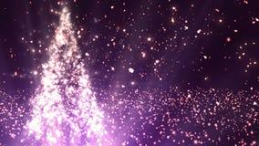 Το χριστουγεννιάτικο δέντρο ακτινοβολεί 5 διανυσματική απεικόνιση