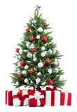 Το χριστουγεννιάτικο δέντρο και παρουσιάζει Στοκ εικόνες με δικαίωμα ελεύθερης χρήσης