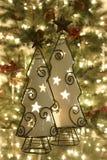 Το χριστουγεννιάτικο δέντρο σημαδεύει τις διακοσμήσεις Στοκ φωτογραφίες με δικαίωμα ελεύθερης χρήσης