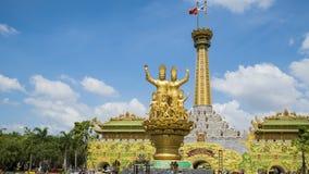 Το χρονικό σφάλμα Dai Nam Van Hien είναι ένας τουρισμός σύνθετος στην επαρχία Binh Duong απόθεμα βίντεο